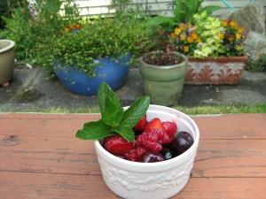 Fresh berries. Hooray!