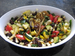 black bean, corn and zucchini salad